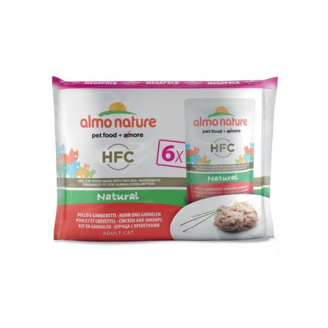 Pâtée pour chat HFC Natural Almo Nature - Multipack 6 pochons x 55 g