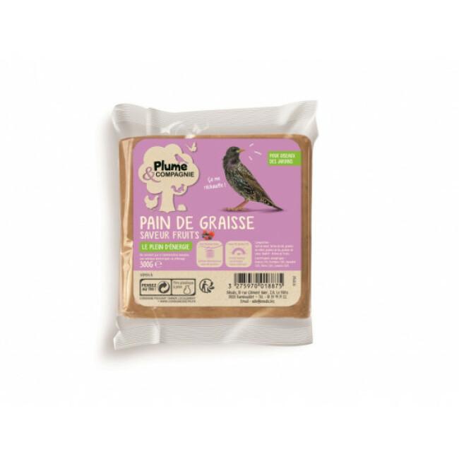 Pain de graisse pour oiseaux du jardin 300 g Plume & Cie