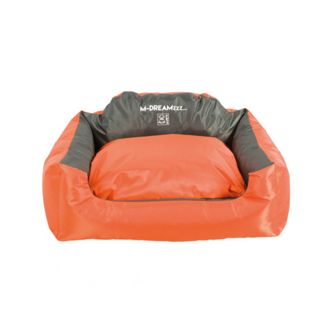 Panier coussin d'extérieur pour chien Natuna M-Pets orange et gris