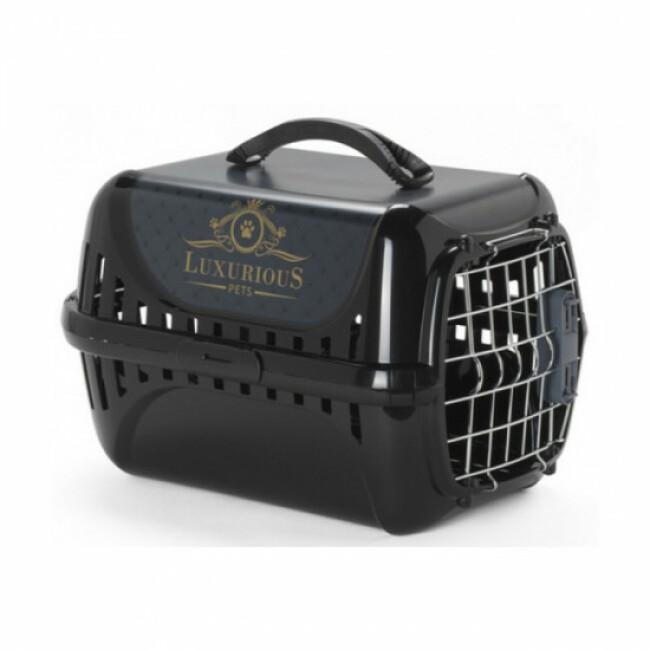 Panier de transport avion Trendy Runner Luxurious pour chat Anka noir