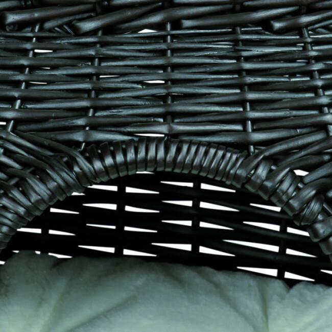 Panier en osier à 2 couchettes pour chat Trixie noir