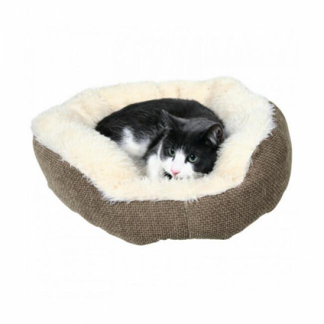 Panier tissu Yuma pour chat et chien Trixie marron et blanc