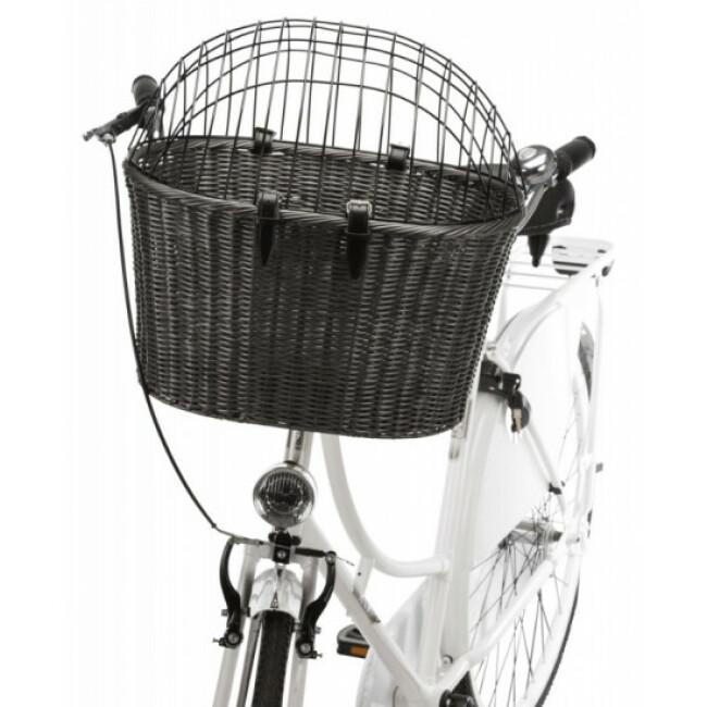 Panier vélo avant gris pour chien Friends On Tour