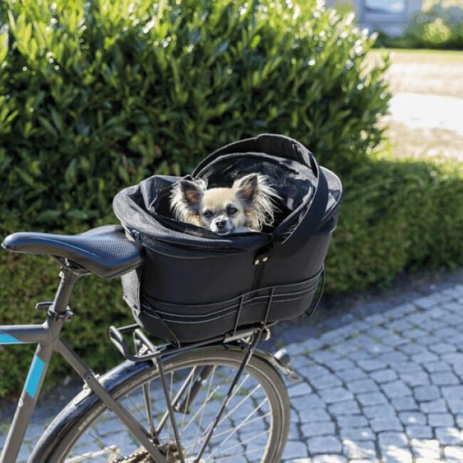 Panier vélo transport chien porte-bagages étroits