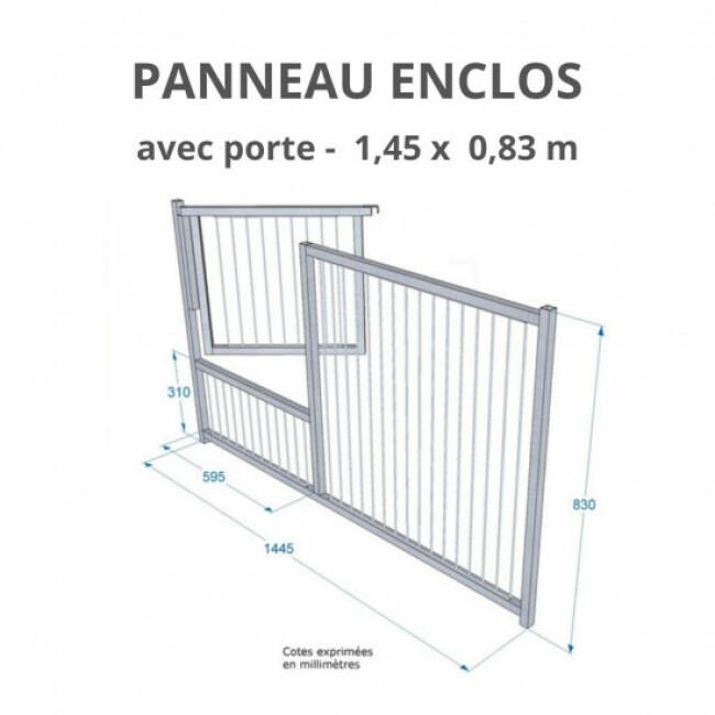 Panneau d'enclos pour chiot à barreaux