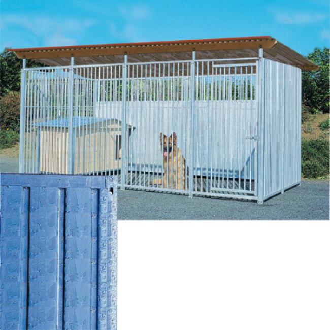Panneau Pro tôle pleine pour construction abris et chenils en kit chien et chat
