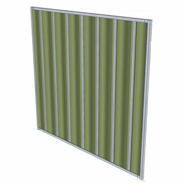 Panneaux de chenil renforcés en tôle laquée verte pour chien