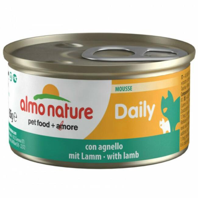 Pâtée pour chat Almo Nature Daily Menu - lot 6 boîtes 85 g