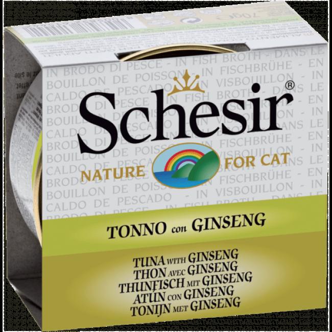 Pâtée pour chat Schesir avec bouillon - Boîte 70 g