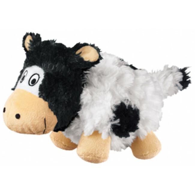 Peluche douce vache à craquements pour chien KONG Cruncheez