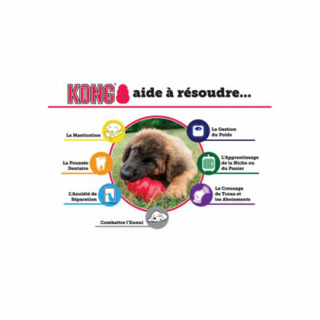 Peluche élan avec corde KONG Weave Knots pour chien