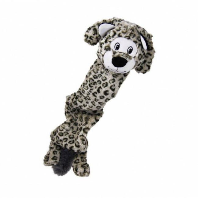 Peluche léopard à couinement pour chien KONG Stretcheez Jumbo