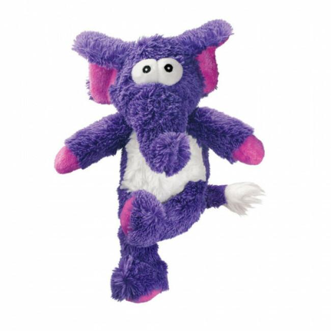 Peluche éléphant à couinement avec corde pour chien KONG Cross Knots