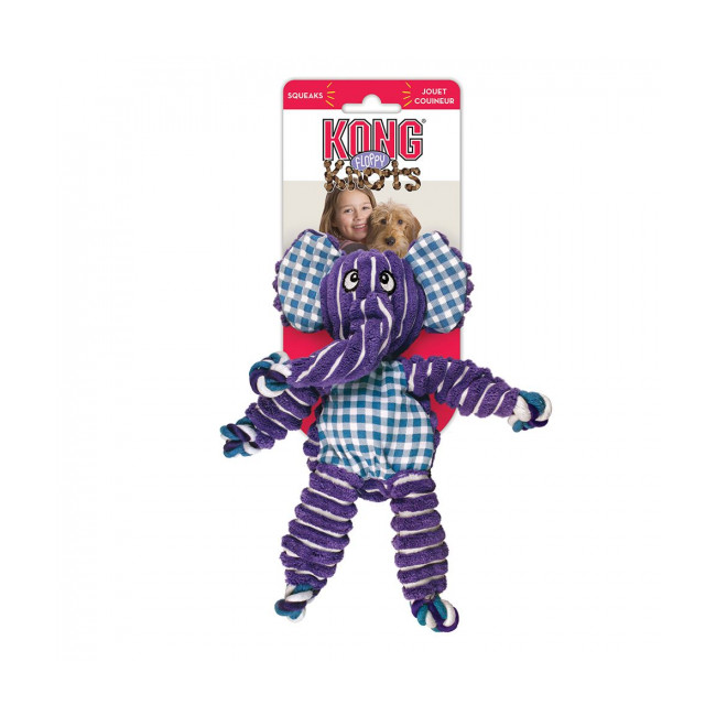 Peluche éléphant pour chien KONG Floppy Knots