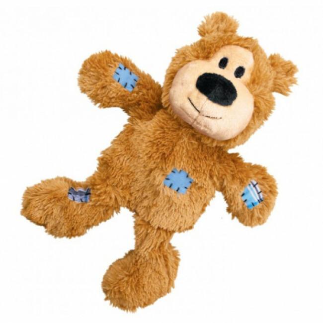 Peluche ours douce avec corde pour chien KONG Knots