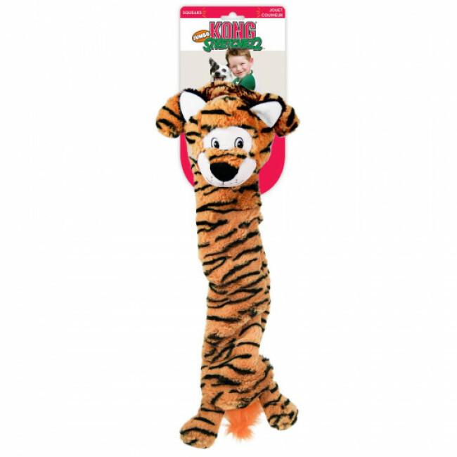Peluche tigre à couinement pour chien KONG Stretcheez Jumbo