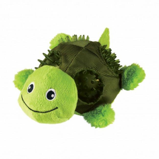 Peluche tortue avec sifflet pour chien KONG Shells