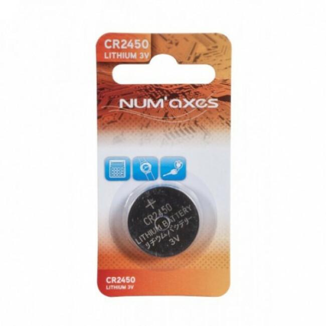 Pile de rechange technologie Lithium type bouton 3 V CR 2450