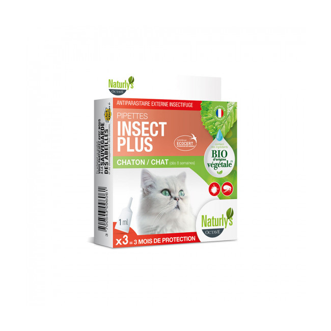 Pipettes antiparasitaires pour chat et chaton Naturlys