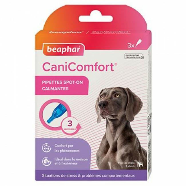 Pipettes calmantes CaniComfort aux phéromones pour chien et chiot
