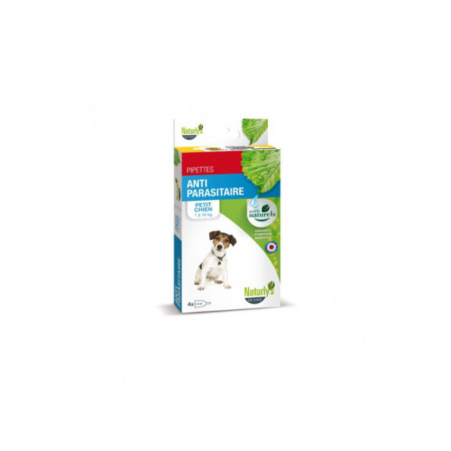 Pipettes Naturalys antiparasitaires pour chien Insect Plus