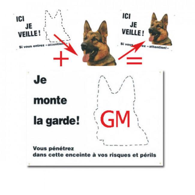 """Plaque de garde """"JE MONTE LA GARDE"""" personnalisable"""