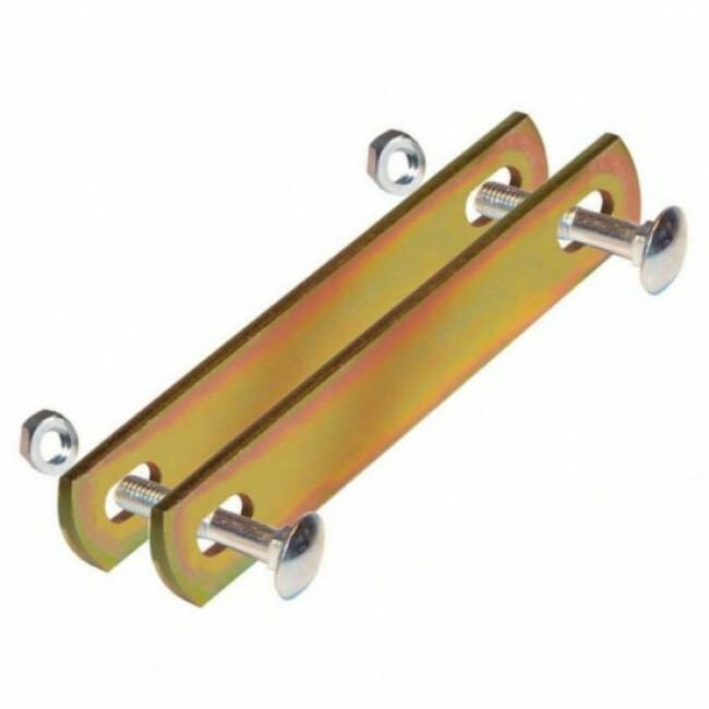 Plaque de raccordement double en acier pour panneaux de chenil