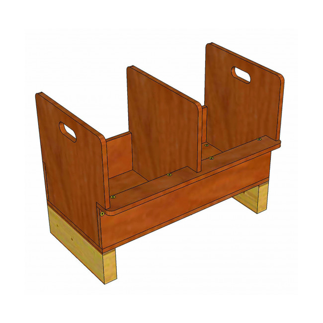 Pondoir en bois 2 compartiments pour poulailler
