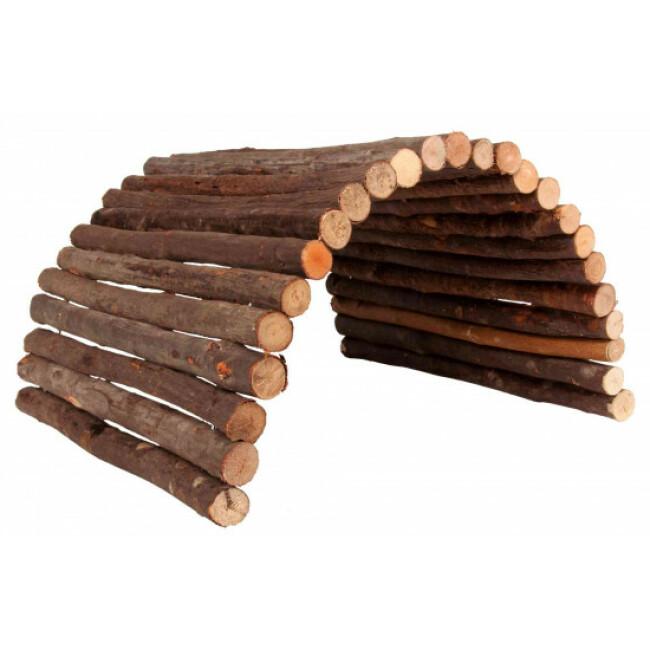 Pont flexible pour rongeurs en bois d'écorce