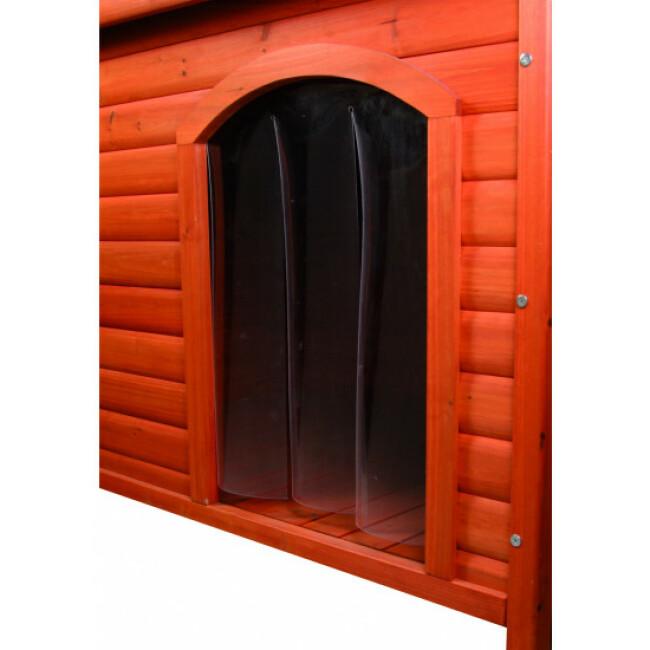 Porte en plastique pour niche Natura toit plat Trixie