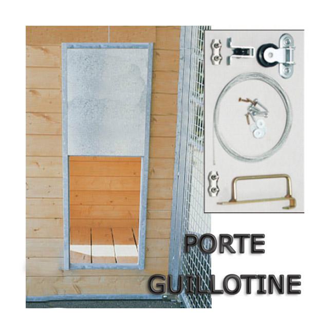 Porte guillotine pour passage chenil chatterie