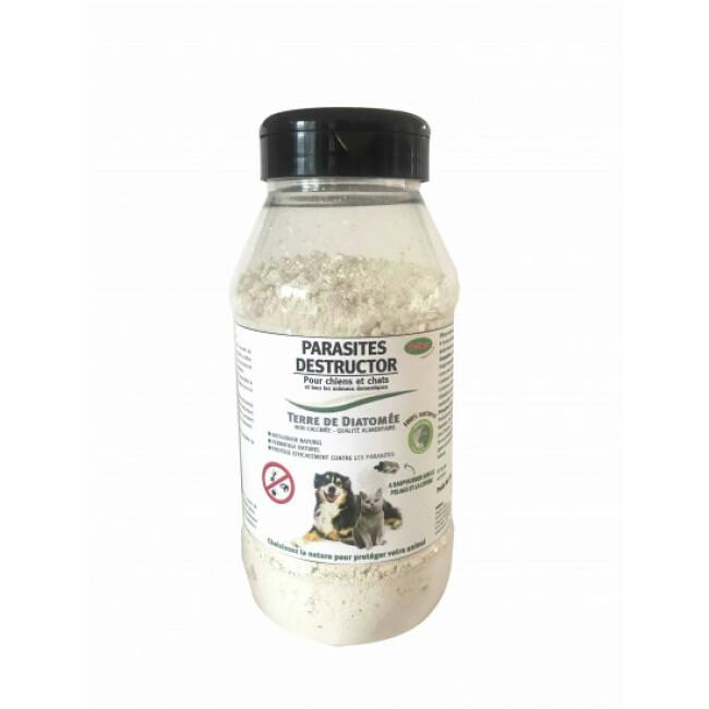 Poudre antiparasitaire pour chien et chat à la terre de diatomée