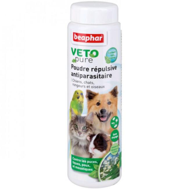 Poudre Véto Nature Beaphar insectifuge pour chien et chat