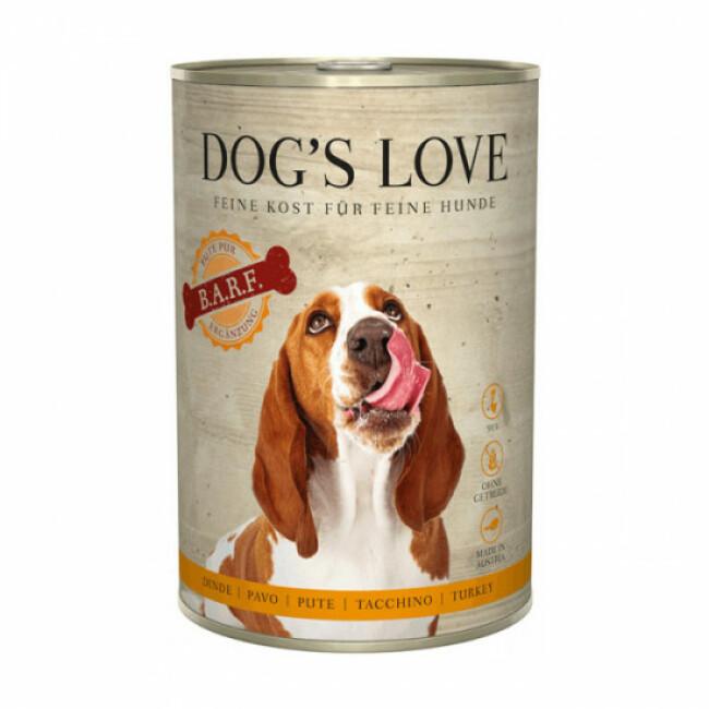Pâtée barf Dog's Love 100% viande pour chien