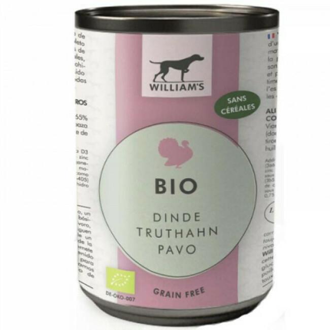 Pâtée Bio sans céréales William's pour chien