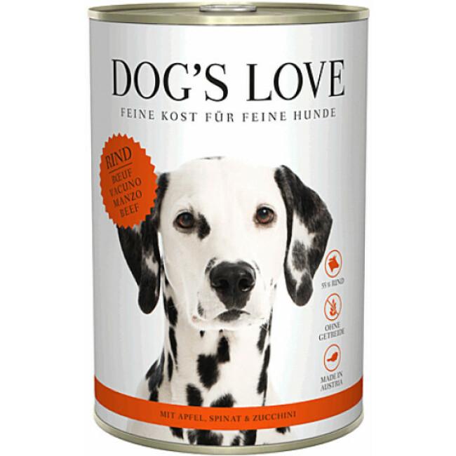 Pâtée Dog's Love au Boeuf pour chien