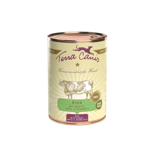 Pâtée naturelle Classic Boeuf Terra Canis pour chien