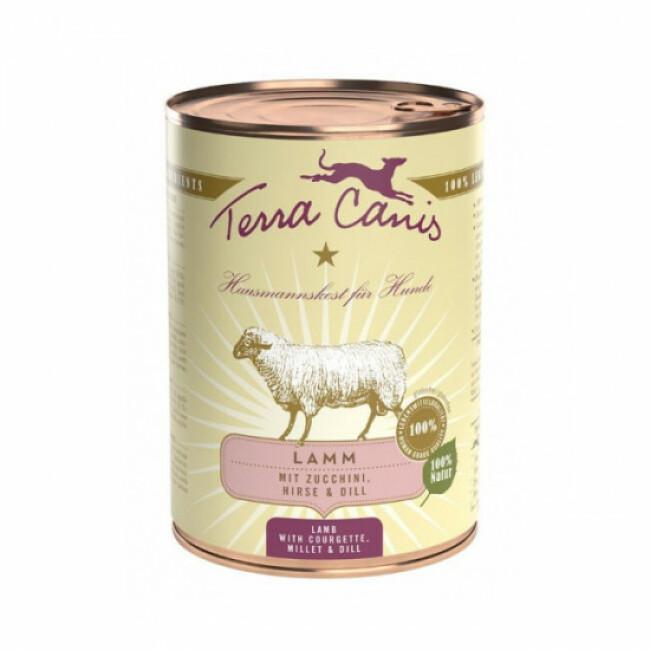 Pâtée naturelle Classic Terra Canis pour chien Saveur Agneau