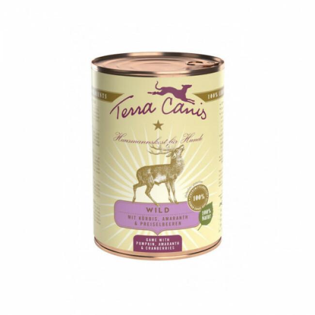 Pâtée naturelle Classic Terra Canis pour chien Saveur Gibier