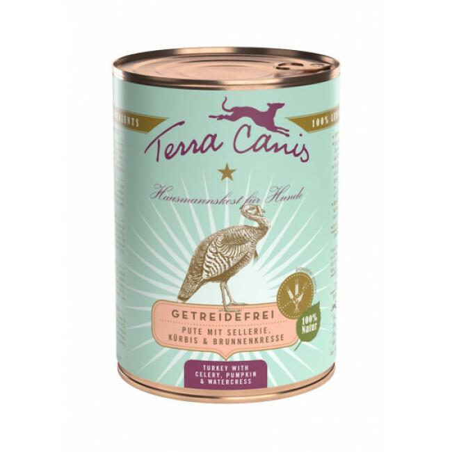 Pâtée naturelle sans céréales pour chien à la dinde Terra Canis