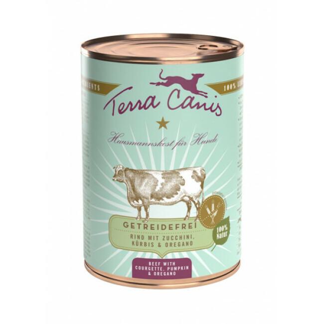 Pâtée naturelle sans céréales pour chien au boeuf Terra Canis