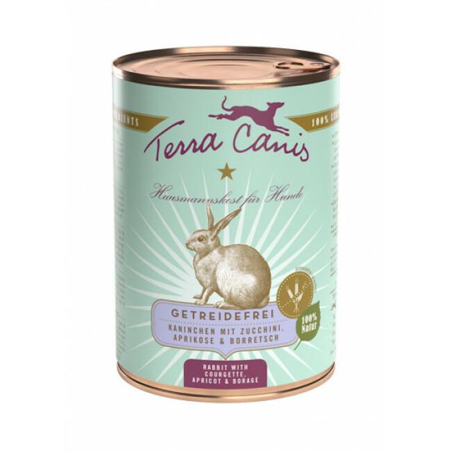 Pâtée naturelle sans céréales pour chien au lapin Terra Canis