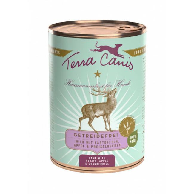 Pâtée naturelle sans céréales pour chien gibier Terra Canis