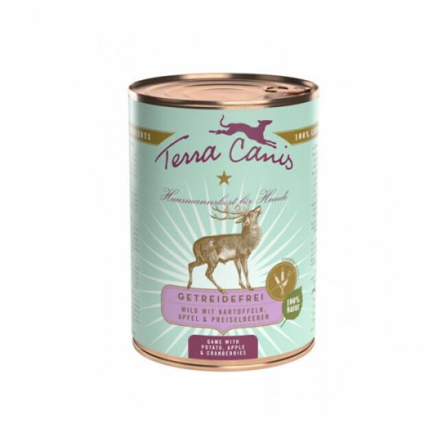 Pâtée naturelle sans céréales Terra Canis pour chien au Gibier