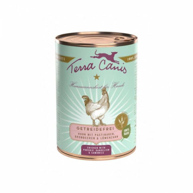 Pâtée naturelle sans céréales Terra Canis pour chien au Poulet