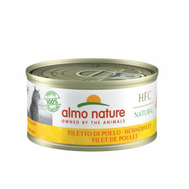 Pâtée pour chat HFC Natural Almo Nature - Lot de 6 boîtes de 70 g