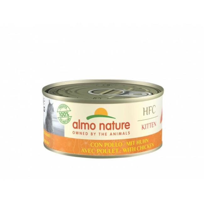 Pâtée pour chaton HFC Natural Almo Nature au poulet 6 boîtes de 70 g