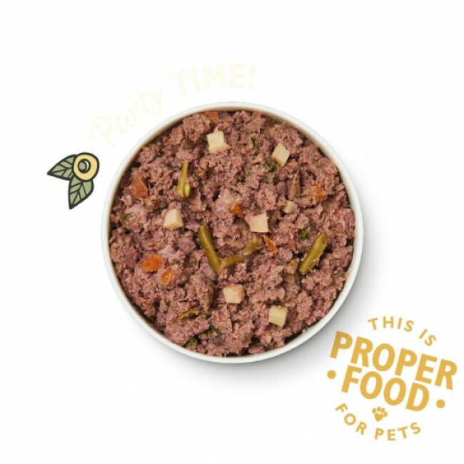 Pâtée pour chien au poulet, pommes de terre et fraises Lily's Kitchen - Boîte 400 g
