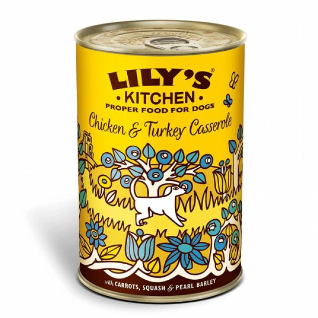 Pâtée pour chien cocotte au poulet et à la dinde Lily's Kitchen