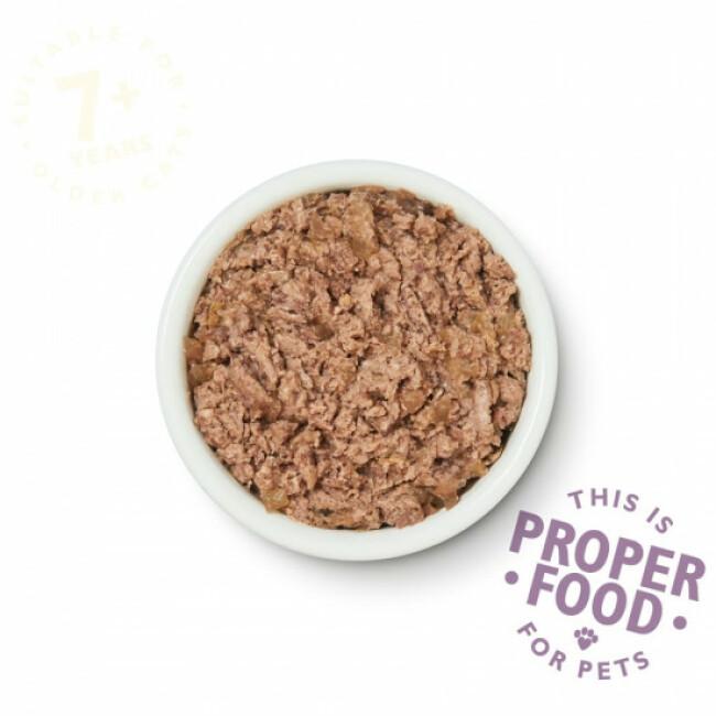 Pâtée sans céréales pour chat senior au poulet Lily's Kitchen Barquette de 85 g